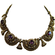 Vintage Etruscan Revival Style Necklace