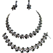 REDUCED Bogoff Rhinestone Necklace, Bracelet and Earrings
