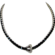 Vintage Deco Style Rhinestone Necklace