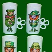SOLD Irish Coffee Leprechaun Mugs  Enesco 1981