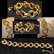 Damascene Crescent Link Bracelet