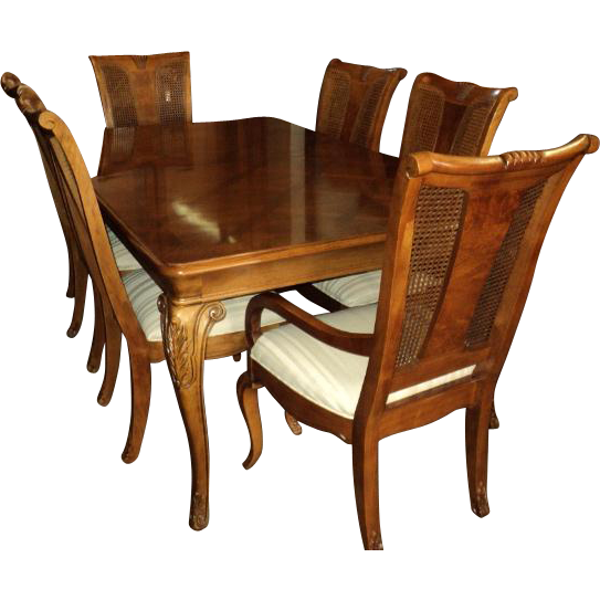 13 piece vintage thomasville dining room set with 10 chairs on sale
