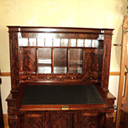 Early 1800's Empire Mahogany Secretary Desk, attributed to Meeks, ON SALE!