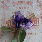 SOLD Delicious vintage bunch of violette's  millinery flowers