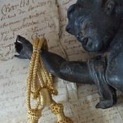 SOLD Delicious French gold metallic tassels passementerie UNUSED