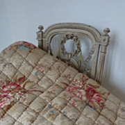SOLD Faded grandeur French quilt floral  motifs Napoleon III period