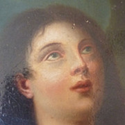 SOLD Superb 19th C. oil painting  portrait Mary Magdalene religious