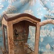 SOLD Enchanting 19th C. French miniature sedan chair vitrine 1800's