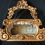 SOLD Regal antique gilt wood diorama doll's room CROWNS mignonettes