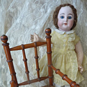 SOLD Darling antique French doll's caned chair faux bamboo 1880 - 1900