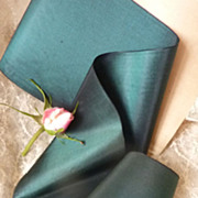 SOLD French  pure silk taffeta ribbon  + 5 yards  unused circa 1900's