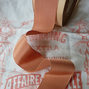 SOLD 13 yards French unused gros grain rayon ribbon projects