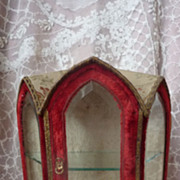 SOLD Adorable miniature gothic style vitrine or cabinet doll accessory
