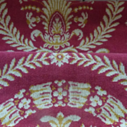 SOLD Vintage French furniture upholstery panel Empire motifs