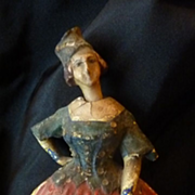 SOLD Unusual charming old doll with nodding head