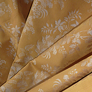 4 vintage French yellow gold silver luxury silk lampas fabric material shop samples