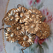 SALE PENDING Batch 10 delicious 19th C. French ormolu daisy flower motifs for projects