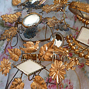 3  faded grandeur French ormolu boudoir wedding display stands : projects