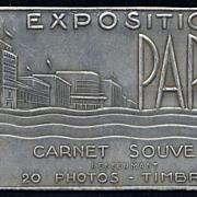 RARE 1937 Paris Expo souvenir set: Photo Stamps and Postcards