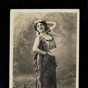 Ballet Dancer Natalia Trouhanova Gypsy Costume Reutlinger Photo Postcard