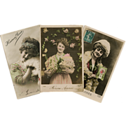 Bon Marche Lot of 3 Antique Christmas New Year Postcards