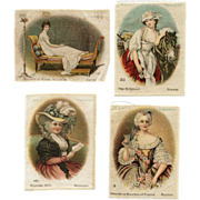SOLD 4 BVD Cigarette Silks Featuring Female Portraits by Famous Artists