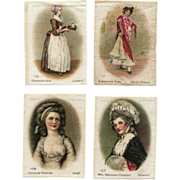 SOLD Vintage BVD Cigarette Silks Pretty Ladies Art Set No. 3