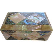 Lovely Antique Mother Of Pearl Box