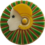 Collerette The Deco Lady Head Pin By French Designer Lea Stein