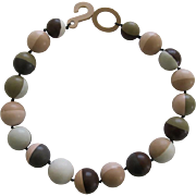 French Designed Beaded Resin Necklace