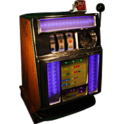 SOLD Vintage Pace Mechanical 5 Cent Slot Machine 1949