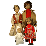 GTC West German Family of Dolls, Mom,Dad,Baby,and Girl