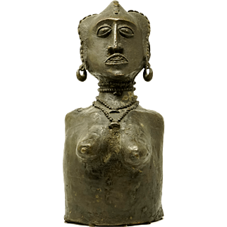 REDUCED Early 20th Century Female Bronze Sculpture from Mali