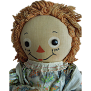 "BELOVED 19"" 1947 Georgene Novelties Raggedy Ann Doll"