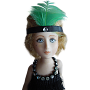 SOLD UNUSUAL and Lovely Little Flapper Lady by Artist Lorraine DeFeno