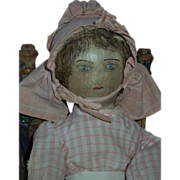 RARE and Wonderful 19th Century Presbyterian Rag Doll c.1885