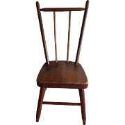 SOLD EXCELLENT Old Country Pine Doll Chair