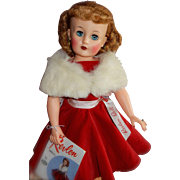 "WOW Boxed Rare Size 22"" Miss Revlon Doll in Red Velvet Queen of Diamonds Outfit"