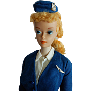 OUTSTANDING Number 3 Barbie Doll Dressed in Vintage American Airline Stewardess Outfit