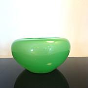 Carder Green Vintage Steuben Art Glass Bowl