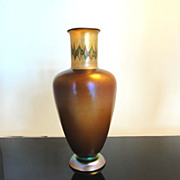 Tiffany Favrile Tel el Amarna Egyptian Inspired Art Glass Vase