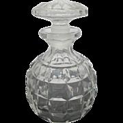 Antique Square Cut Crystal European Glass Decanter Spirits Bottle