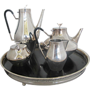 SALE Mid-century Modern REED & BARTON John Prip Silver Plate DENMARK Coffee and Tea Set