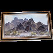 "Original Landscape Oil Painting by Bill Freeman Titled ""Lost Desert"""