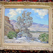 SOLD Joane Cromwell California Desert Landscape Impressionist Oil Painting on Canvas