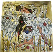 """Jiang Tie-Feng Deluxe Limited Signed Edition """"Morning with Cranes"""" Silkscreen"""