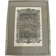 Holy Physics  Johann Jakob Scheuchzer Antique Crucifixion Framed Copper Engraving Plate