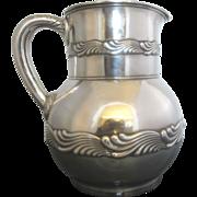 SALE Tiffany & Co. John C. Moore Sterling Silver Wave Pattern Water Pitcher