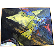 Original Acrylic Abstract Modern Painting Towards Infinity by Carl Morris