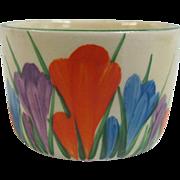 Vibrant Hand Painted Autumn Crocus Flower Clarice Cliff Bizarre British Egg Cup